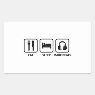 Eat Sleep Make Beats Rectangular Sticker