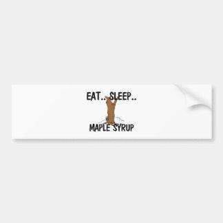Eat Sleep MAPLE SYRUP Car Bumper Sticker