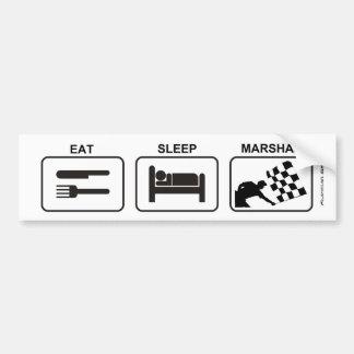 """Eat - Sleep - Marshal"" by Flagman Bumper Sticker"