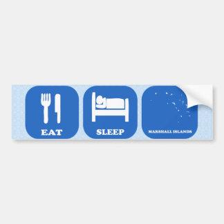 Eat Sleep Marshall Islands Bumper Sticker