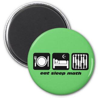 eat sleep math 2 inch round magnet