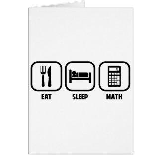 EAT, SLEEP, MATH CARD