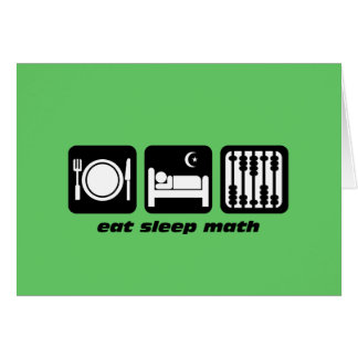 eat sleep math card