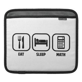 EAT, SLEEP, MATH SLEEVE FOR iPads