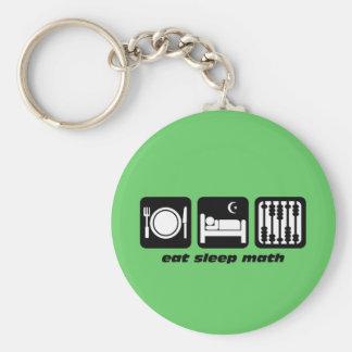 eat sleep math key chains