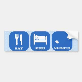 Eat Sleep Mauritius Car Bumper Sticker