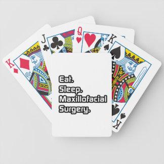 Eat Sleep Maxillofacial Surgery Bicycle Poker Cards