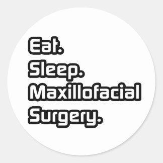 Eat Sleep Maxillofacial Surgery Stickers