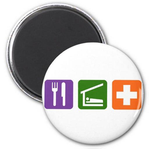 Eat Sleep Medical 2 Inch Round Magnet