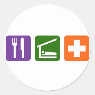 Eat Sleep Medical Classic Round Sticker