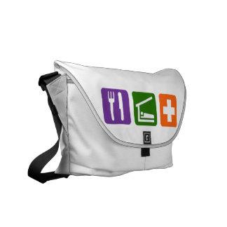 Eat Sleep Medical Messenger Bag