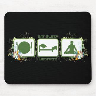 Eat Sleep Meditate Mouse Pad