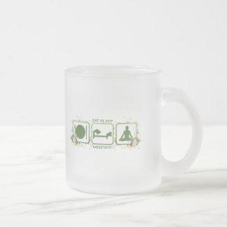Eat Sleep Meditate Coffee Mug