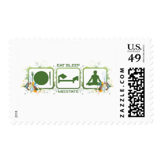 Eat Sleep Meditate Postage Stamp