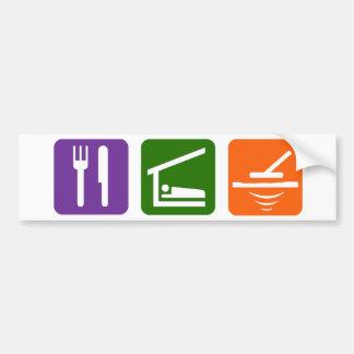 Eat Sleep Metal Detector Car Bumper Sticker