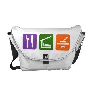 Eat Sleep Metal Detector Messenger Bag