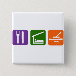 Eat Sleep Metal Detector Pinback Button