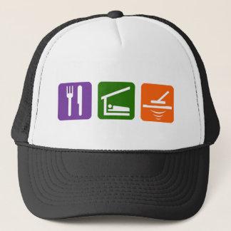 Eat Sleep Metal Detector Trucker Hat