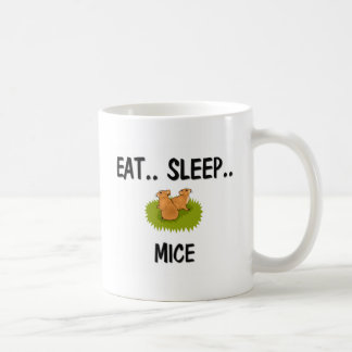 Eat Sleep MICE Classic White Coffee Mug