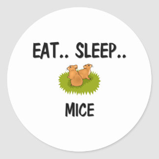Eat Sleep MICE Round Sticker