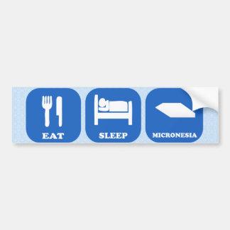 Eat Sleep Micronesia Car Bumper Sticker