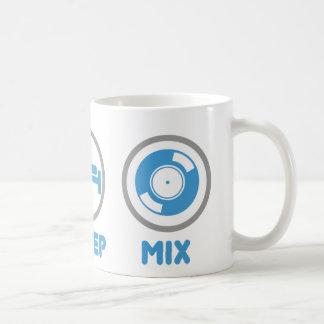 Eat, Sleep, Mix Again - DJ Disc Jockey Music Deck Classic White Coffee Mug