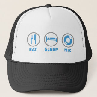 Eat, Sleep, Mix Again - DJ Disc Jockey Music Deck Trucker Hat