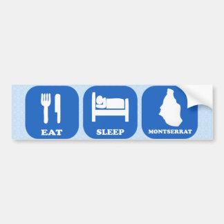 Eat Sleep Montserrat Car Bumper Sticker