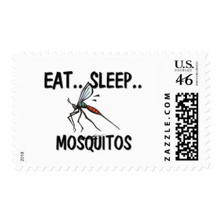 Eat Sleep MOSQUITOS Stamps