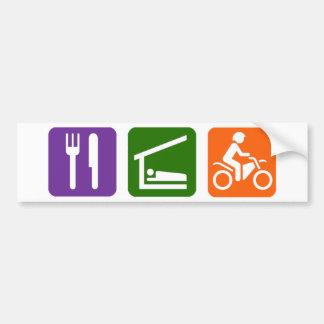Eat Sleep Motocross Bumper Sticker