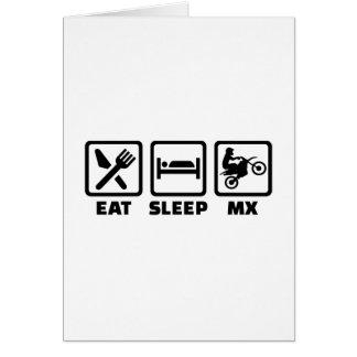 Eat sleep Motocross MX Card