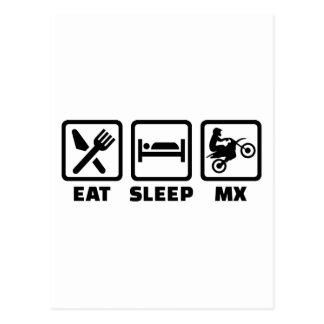 Eat sleep Motocross MX Postcard