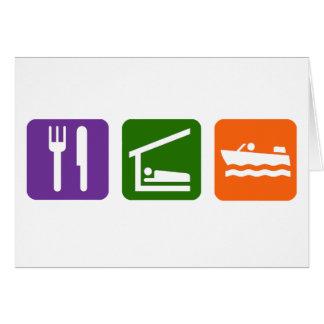 Eat Sleep Motor Boating Card