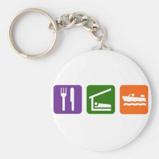 Eat Sleep Motor Boating Keychain