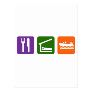 Eat Sleep Motor Boating Postcard