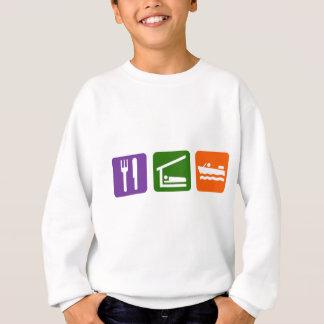 Eat Sleep Motor Boating Sweatshirt