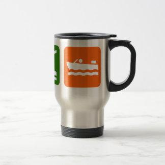 Eat Sleep Motor Boating Travel Mug