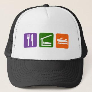 Eat Sleep Motor Boating Trucker Hat