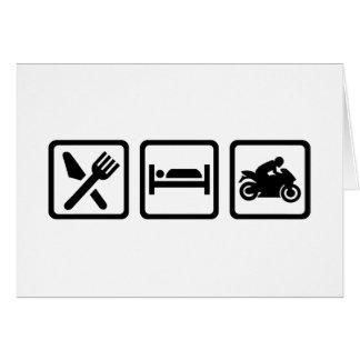 Eat sleep motorcycle card