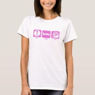 eat sleep mountain bike pink T-Shirt