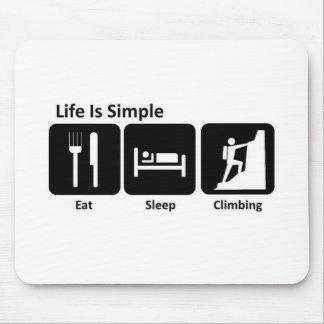 Eat Sleep Mountain Climb Mousepad