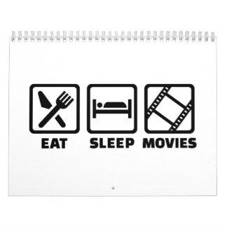 Eat sleep Movies Calendar