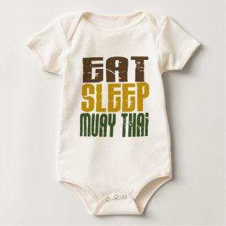 Eat Sleep Muay Thai 1 Baby Bodysuit