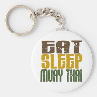 Eat Sleep Muay Thai 1 Keychain