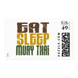 Eat Sleep Muay Thai 1 Stamp