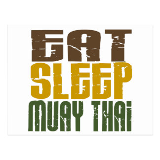 Eat Sleep Muay Thai 1 Postcard