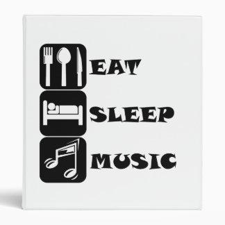 Eat Sleep Music Vinyl Binder