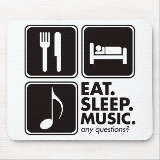 Eat Sleep Music - Black Mouse Pad