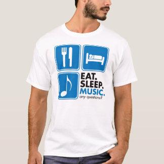Eat Sleep Music - Blue T-Shirt