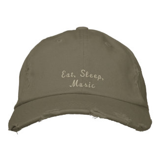 Eat, Sleep, Music Embroidered Baseball Cap